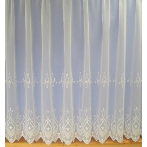 chloe white embroidered voile net curtain made to measure. Black Bedroom Furniture Sets. Home Design Ideas