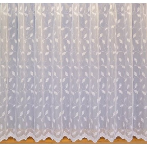 kitty white embroidered voile net curtain made to measure. Black Bedroom Furniture Sets. Home Design Ideas