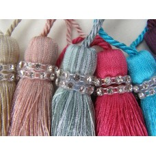 Tiffany Swarovski Crystal Key Tassels